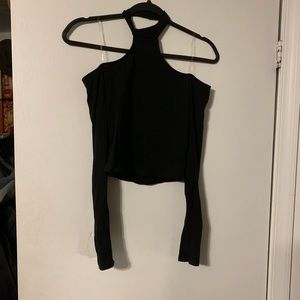 Forever 21 Black Choker Crop Top S NWT
